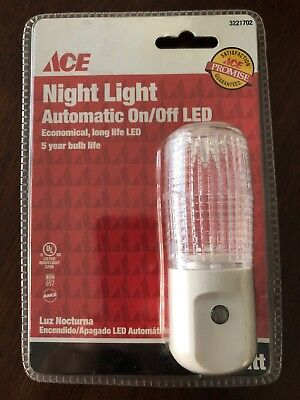 Ace Hardware LED Night Light with Automatic On and Off Operation. Brand New! Ace Hardware Led Lights