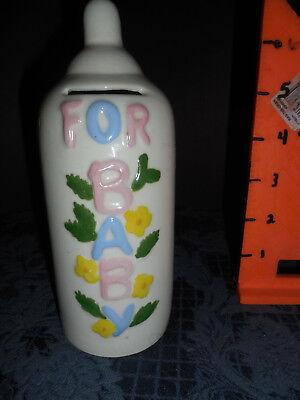 Baby Bottle Piggy Bank (CERAMIC