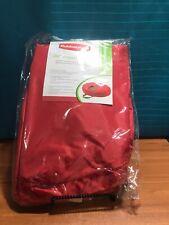 Rubbermaid Christmas Wreath Storage Bag Zipper Handles Red ...