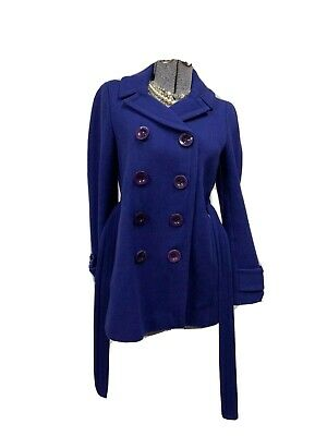 J CREW STADIUM-CLOTH BOULEVARD Dress WOOL COAT Long Winter Ready Royal Blue 2