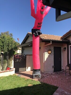 Red Now Open Air Dancers Inflatable Tube Man 1 Hp Blower Set 20ft
