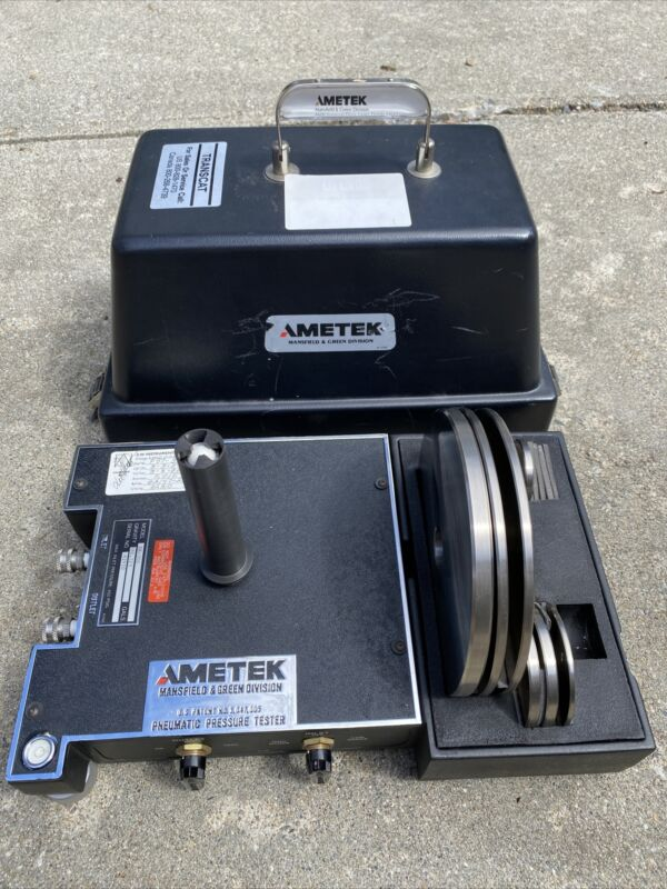 Ametek RK-300 RK Floating Ball Type Pneumatic Dead Weight Tester Set 300PSI