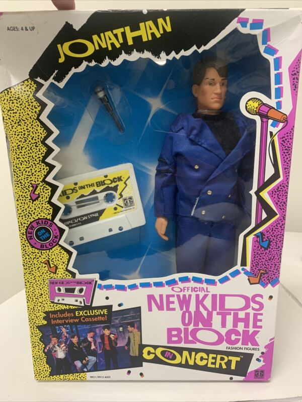 1990 Hasbro - New Kids on the Block Jonathan Concert Doll in Box