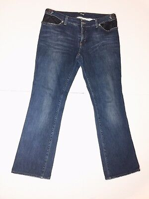 - Dolce & Gabbana Jeans Bootcut Faux Leather Size 34 - Inseam 28