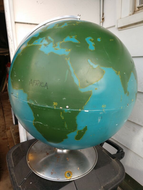 """Extra Large 21"""" World Graphic Project Globe Metal Teaching Tool Educational"""