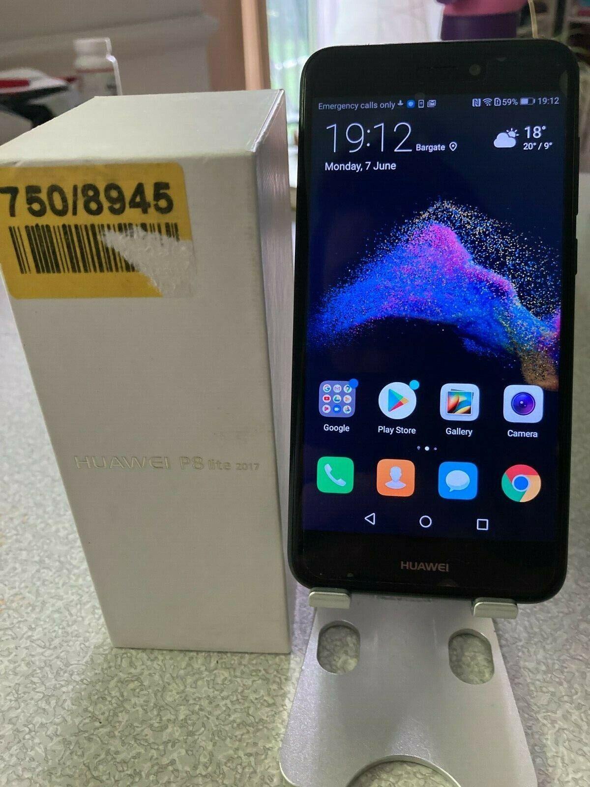 Android Phone - Huawei P8 Lite 2017 16GB Smartphone - Black mobile phone
