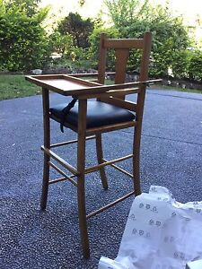 Antique High Chair Woodrising Lake Macquarie Area Preview