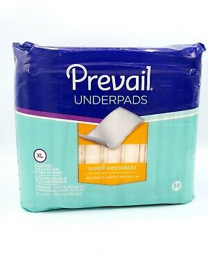 Underpad Prevail Super Absorbency XL 30 X 30 Inch UP-100 Pack of 10 ()