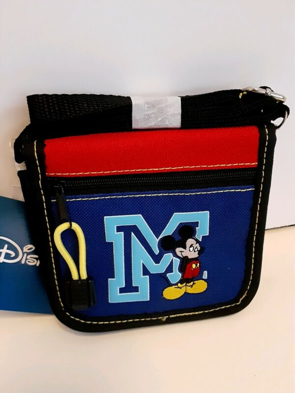 Disney Mickey Mouse Wallet with Adjustable Shoulder Strap Girls mini Purse Bag