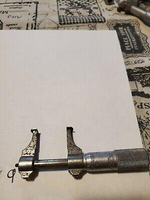 Starrett No. 701 .5-1.5 Inside Groove Micrometer Missing End Nut