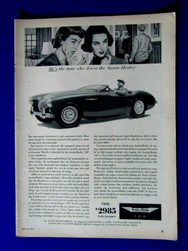 "Austin Healey 100 Man Who Drives The Healey 1955 Original Print Ad 8.5 x 11"""