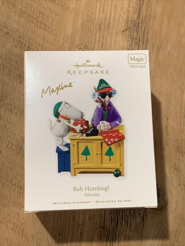 Maxine Bah Humbug Hallmark Keepsake Ornament - 2010! Features Sound! NEW IN BOX!