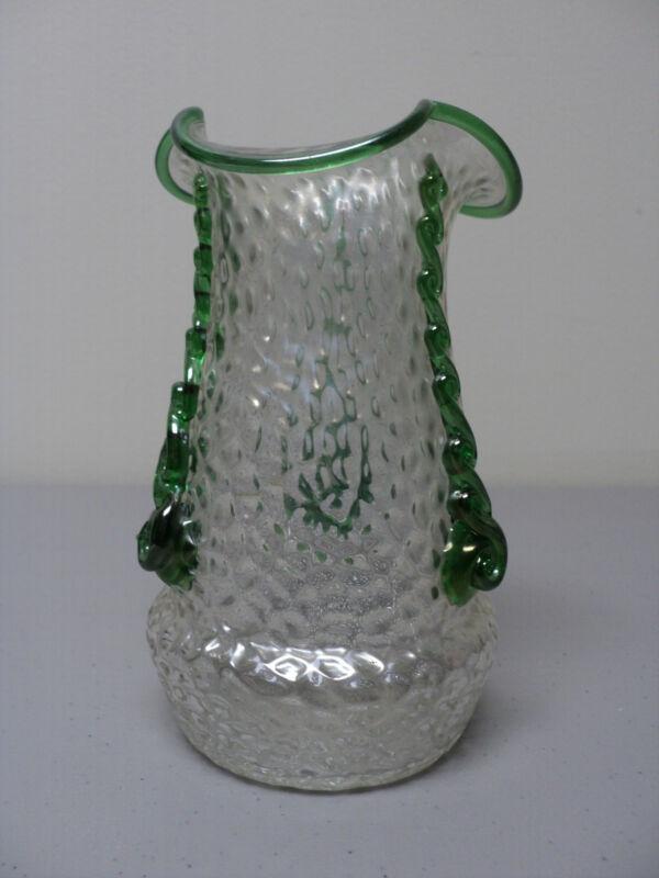 BEAUTIFUL ANTIQUE KRALIK BOHEMIAN ART NOUVEAU ART GLASS VASE, c 1900