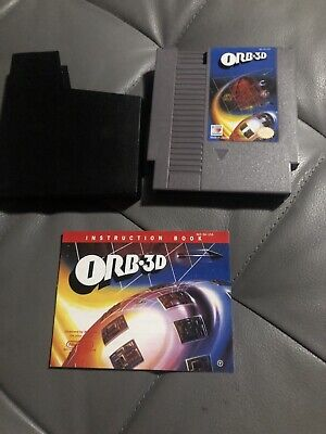ORB-3D (Nintendo Entertainment System, 1990) NES With Manual, Tested