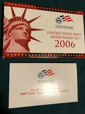 2006 US Mint Silver Proof 10- Coin Set. Original box with COA San Francisco -