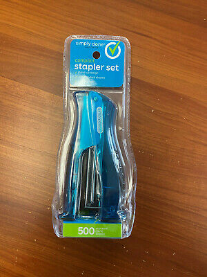 Simply Done - Stapler Desktop Compact Size With 500 Standard 266 Staples New