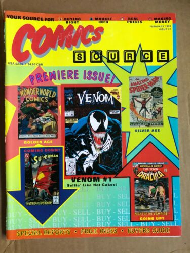 Fanzine COMICS SOURCE #1 - February 1993 - Articles + Price Guide