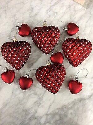 Heart Shaped Ornaments (10 VALENTINE HEART SHAPED)