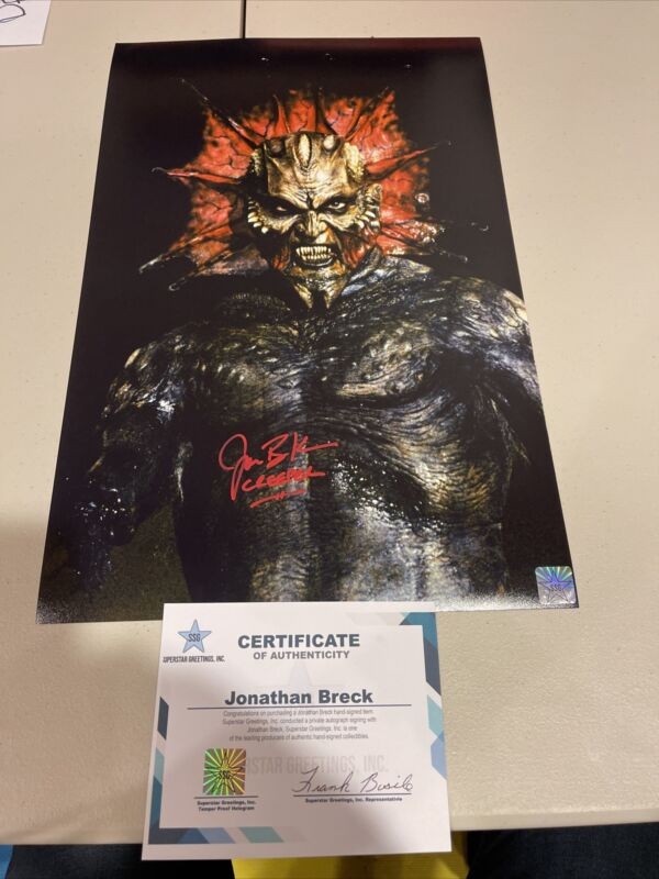 Autographed Jonathan Breck Signed Jeepers Creepers 11x17 Photo Ssg Coa Gtp Tpa