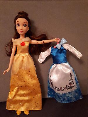 Disney Die Schöne und das Biest Hasbro Belle Puppe+2 Kleider gelb+blau doll ()