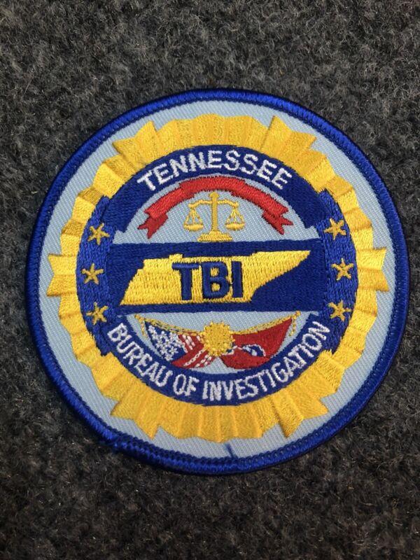Tennessee Bureau of Investigation police  patch TBI TN
