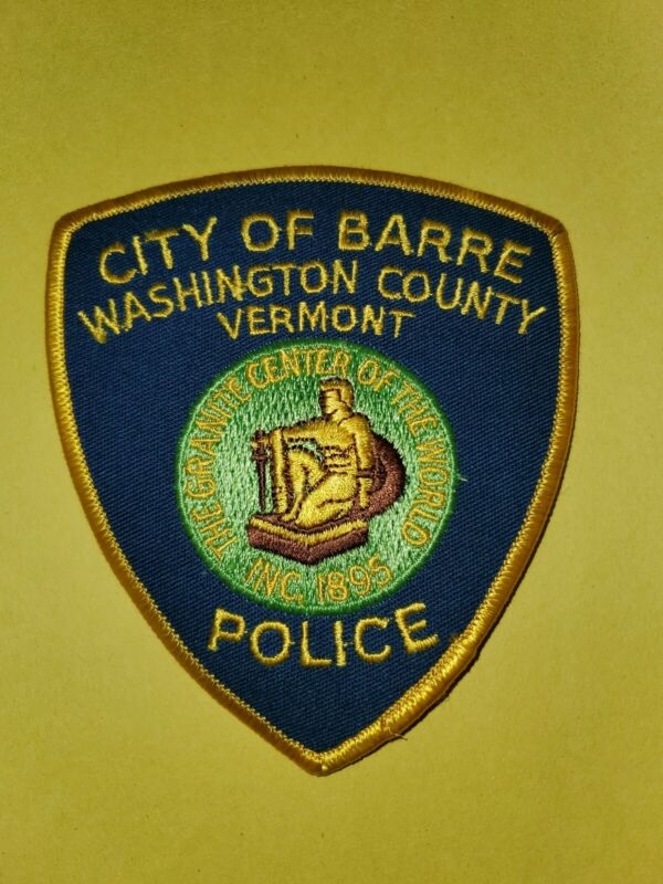 Barre Vermont Police Patch