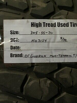 1 30555-20 Bfgoodirch Mud Terrain Ta Used High Tread Tire 305 55 20 832nds