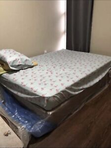 Queen size bed and box spring