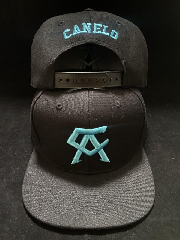 Canelo Alvarez Hat Tiffany Teal brim BOXING CHAMPION SNAPBack Black Rare