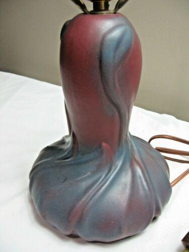 rmk99 Vtg Van Briggle Pottery Lamp  Art Nouveau  Satin 2-Tone  Retro  EXC st135