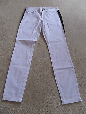NWT BB Dakota Panel Skinny Jeans Size 28 Optic White/Black  ()
