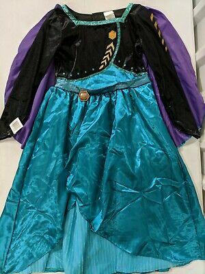 Frozen 2 Halloween Costume Girls Dress Up Queen Anna Detachable Cape Size Medium