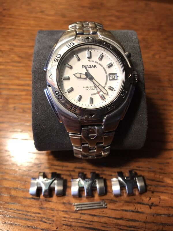 PULSAR by Seiko MENS 100M VINTAGE KINETIC WATCH 5M42-0L30