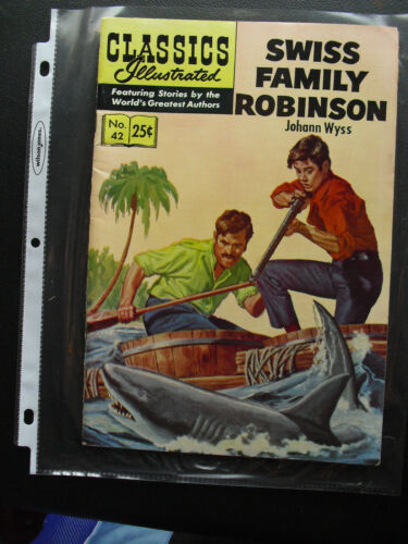 Vintage 1969 Classics Illustrated Swiss Family Robinson #42 Comic Book