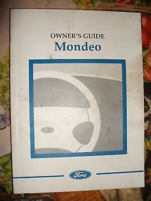 GENUINE FORD MONDEO OWNERS HAND BOOK 1997 PETROL & DIESEL ZETEC DURATEC 16V 24V