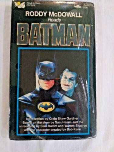 Roddy McDowall Reads Batman - 1989 DC Comics Cassette Craig Shaw Gardner - MIB