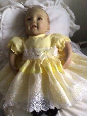 "Handmade. BABY 3-6MTHS or Reborn 22"" Spanish Dress And Pants New"