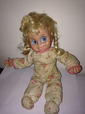 Vintage Vinyl Head Foam Body Doll Looks Like Baby Dolly Parton
