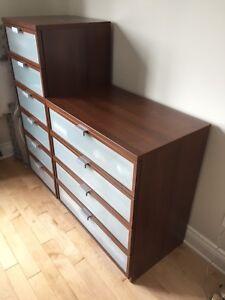Set chambre ikea king size brun moyen hopen