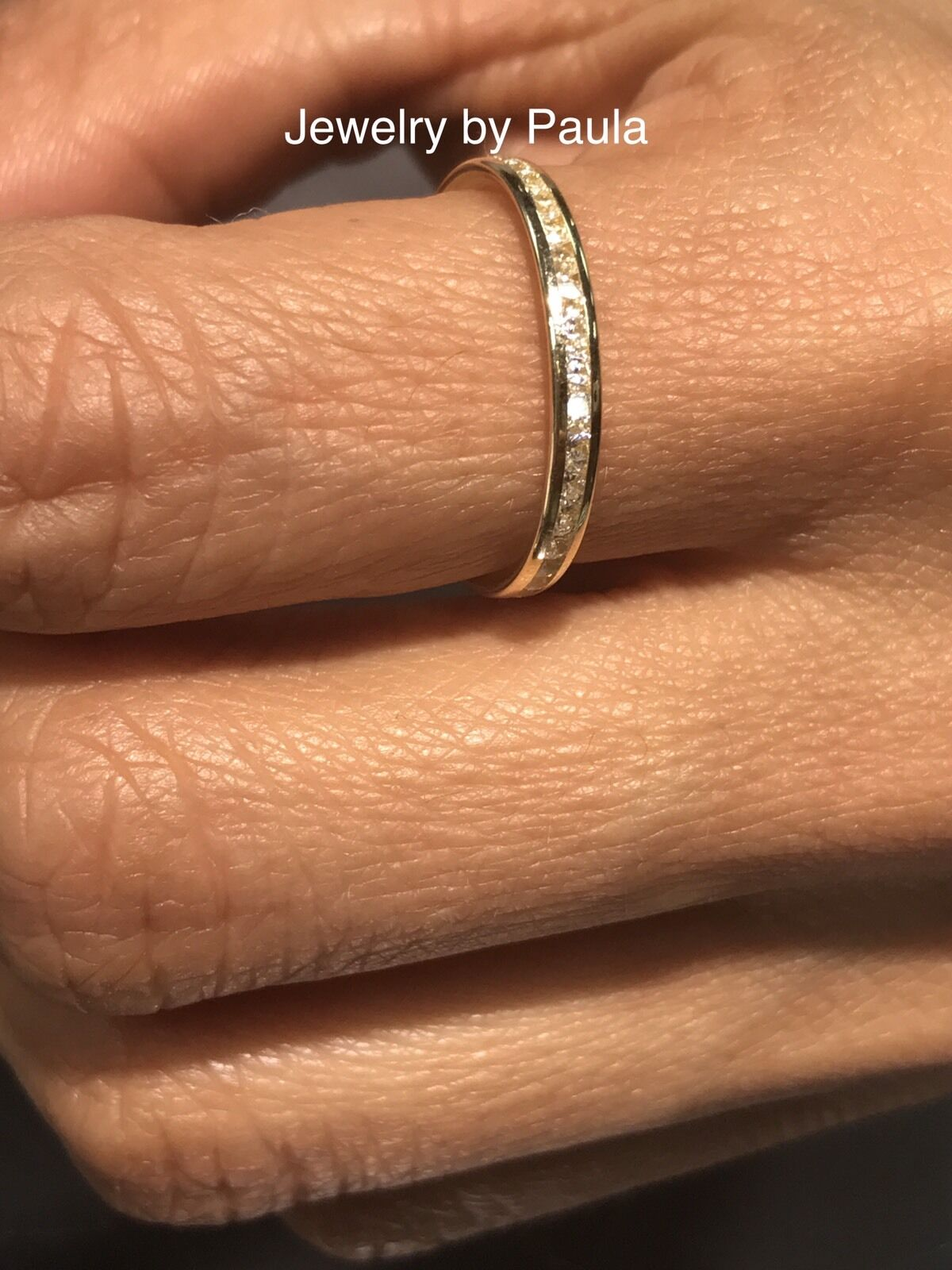 14k solid yellow gold diamond ... Image 3