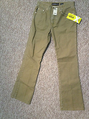 EXPRESS gold special issue JEANS soft glow 14k style (size 3/4 ) low rise flare