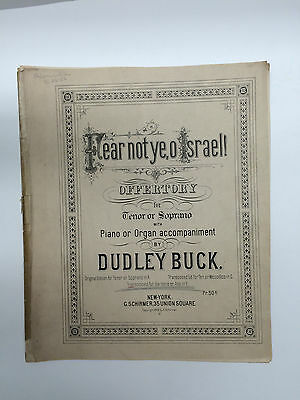 Vintage Sheet Music Fear Not Ye, O Israel! Dudley Buck