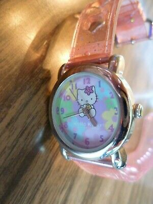 Hello Kitty Sanrio Kids Watch Jelly Pink Glitter Band Teach How To Tell Time](Blackbeard Band)
