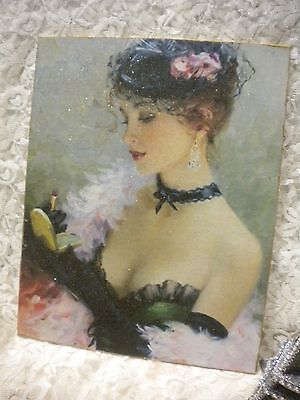 """Shabby Chic / Victorian Woman """"Make Up"""" Plaque"""