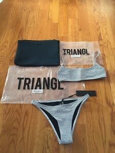 authentic triangl bathing suit size small