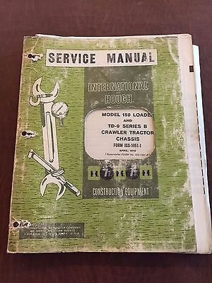 International Nissan 150 Td-9 9 Series Crawler Dozer Service Manual 1970