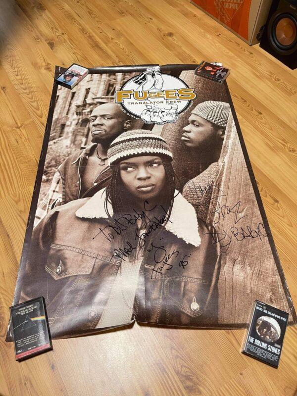 autographed fugees poster 1995 Tranzlator Crew Hip Hop Rap Soul