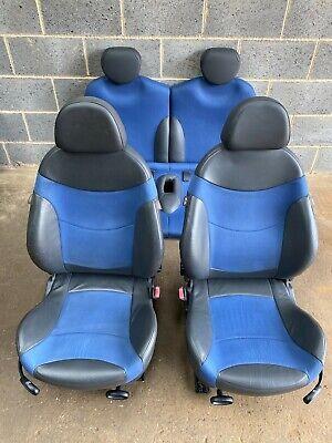 BMW Mini One/Cooper/S Blue Half Leather Seats (R50/R53 Hatchback 2001 - 2006)
