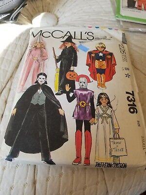 VTG Costume Sewing Pattern McCall's 7316 Small Boy/Girl 6 - Mccall Pattern Kostüm