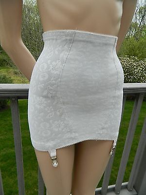 Vtg PLAYTEX 18 Hour RUBBER Open GIRDLE attached GARTERS tag:MED (poss SM)